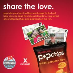 #sharethelove - send 2 free personalized cards to our #troops thanks to #popchips #postcarding @Matty Chuah Exchange - You save, we give back. #military