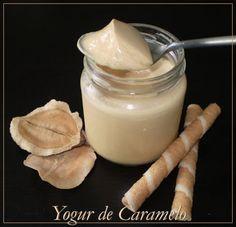 Yogures Caseros: YOGUR DE CARAMELO Fruit Salad With Yogurt, Fruit Salad Recipes, Bread Machine Recipes, Kefir, Sin Gluten, My Recipes, Gelato, Glass Of Milk, Oreo