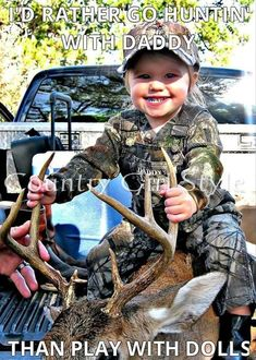 I rather be hunting with daddy than playing with dolls.  #cutekids #hunting #dirtbettylife #attitude #outdoors