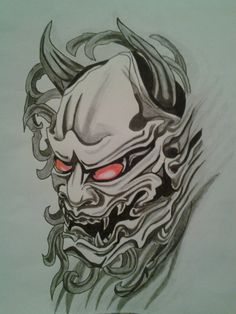 Oni Face by xXxBATxXx on deviantART