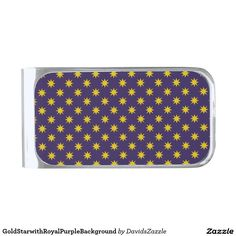 Gold Star with Royal Purple Background Money Clip This design is available on many products! Hit the 'available on' tab near the product description to see them all! Thanks for looking!     @zazzle #art #star #pattern #shop #chic #modern #style #circle #round #fun #neat #cool #buy #sale #shopping #men #women #sweet #awesome #look #accent #fashion #clothes #apparel #earrings #headband #sunglasses #ties #belts #fingernail #black #blue #purple #orange #grey #gold
