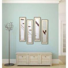 Rayne Vintage Silver Mirror Panel, Set of 4