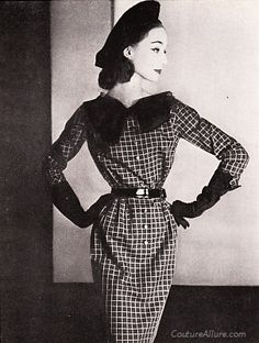 Couture Allure Vintage Fashion: Mad for Plaid - 1956