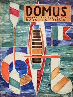 Domus cover by Gio Ponti