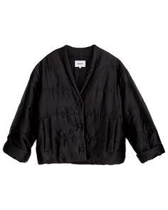 LING - Puffer jacket - Black Puffer Jackets, Crisp, Model, Sweaters, How To Wear, Pants, Satin, Black, Tops