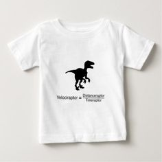 #velociraptor funny science baby T-Shirt - #dino #shirts