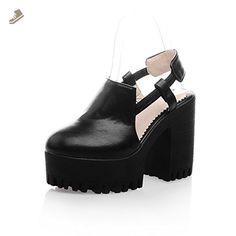 AdeeSu Girls Round-Toe Rain Black Polyurethane Pumps Shoes 5 B(M) US - Adeesu pumps for women (*Amazon Partner-Link)