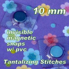 115 Sets Extra Small Hidden Magnetic Snaps by tantalizingstitches (Craft Supplies & Tools, Sewing & Needlecraft Supplies, team efa, cccoe team, sew in, sew, bag, diy, destash, hidden, closure, snap, strong, invisible)
