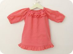 girl's ruffle tunic - homemade by jill