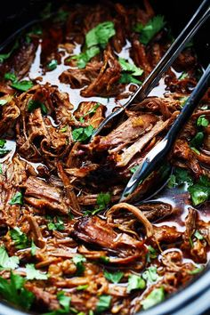 AMAZING and tender beef barbacoa that is better than any restaurant I have had! The flavor is amazing and it slow cooks to perfection! Reason #346 why I love my slow cooker. It slow cooks beef to perfect tender and juicy melt in your mouth perfection. Is there anything better than meat that is slow …