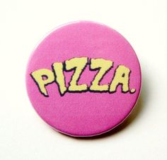 Pizza Ninja Turtles button badge or magnet 1.5 by PKPaperKitty