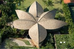 Leaf house (Brazil). Now what does this remind me of? A clove of cardamon?