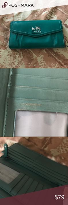 Authentic Coach wallet leather Has a couple scuffs (pictures shown) Coach Other