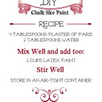 DIY Chalk-like Paint Recipe! - - Designed Decor