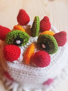 patron crochet amigurumi tarta fresas