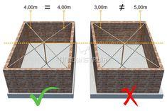 Paredes: você sabe o que é alvenaria de vedação? Concrete Building Blocks, House Roof, Foundation, Divider, Frame, Decor, Glass Walls, Smart House, Hacks