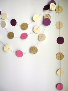 Gold Plum radiant orchid garland Purple glitter by HoopsyDaisies