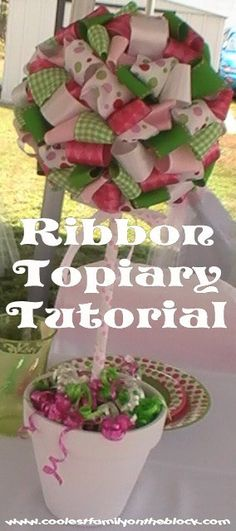 Ribbon Topiary Tutorial Video