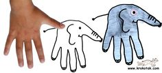 Kindergarten elephants! Take that hand turkey