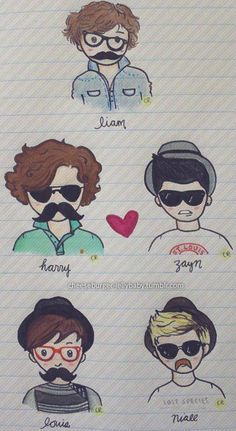 One Direction Detection One Direction Fan Art, One Direction Cartoons, One Direction Drawings, Zayn, Liam James, James Horan, Harry Edward Styles, Harry Styles, Louis And Harry