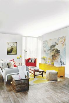 Sunny living room - PHOTOS: ANGELICA HERAS. TEXTE: ANA RODRIGUEZ