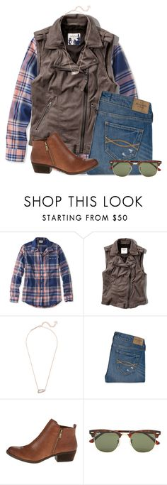 """""""Someone's heart got broken today"""" by flroasburn on Polyvore featuring L.L.Bean, Abercrombie & Fitch, Kendra Scott, Lucky Brand and Ray-Ban"""