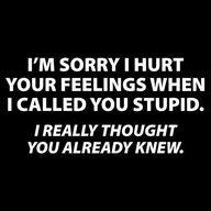 I really did