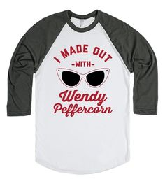 I Made Out With Wendy Peffercorn |Baseball Tee | SKREENED | Show off your love for The Sandlot with this shirt. It's also a great gift for your favorite fan of the movie! #thesandlot