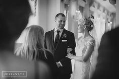 gorgeous couple in Lovett Hall Ballroom, awaiting their wedding day to begin!
