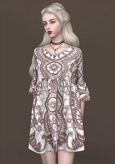 spectacledchic-Next  Ruffles Sleeves Doll Dress