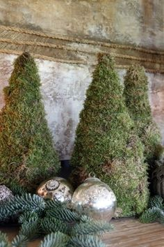 Inspiration for a rustic Christmas French Christmas, Natural Christmas, Noel Christmas, Green Christmas, Country Christmas, Christmas Colors, Simple Christmas, Winter Christmas, Christmas Greenery