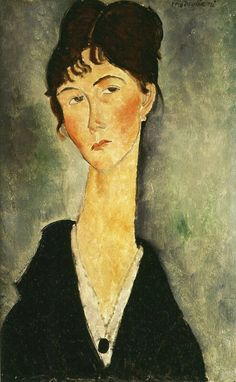 Amedeo Modigliani Bust of a Woman with a Necklace c. 1917-18