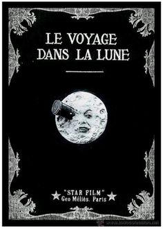 Póster Viaje a la Luna. Versión Francés  Póster con la imagen de la portada de la clásica película Viaje a la Luna en versión francés.
