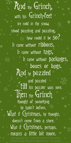 Merry Christmas Quotes : ~ From The Grinch who stole Christmas ~ ♥ ~ Grinch Green Version ★●★●… Grinch Party, Grinch Christmas Party, Grinch Who Stole Christmas, Christmas Humor, Winter Christmas, Holiday Fun, Christmas Holidays, Christmas Crafts, Christmas Ideas
