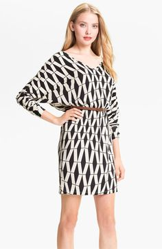 Tart 'Liv' Graphic Print Dolman Sleeve Dress #Nordstrom