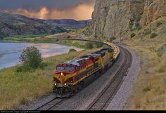 RailPictures.Net Photo: KCS 4666 Kansas City Southern Railway GE ES44AC at Montana Rail Link, Lombard, Montana, USA. September 11, 2011 by Tom Danneman