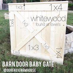 Ideas for barn door ideas decor baby gates Baby Gate For Stairs, Barn Door Baby Gate, Diy Baby Gate, Stair Gate, Baby Gates, Pet Gate, Diy Barn Door, Dog Gates, Baby Door