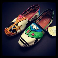 Adult TOY STORY Toms - Buzz Lightyear and Woody Disney shoes perfect for your Summer Trip to Disneyland