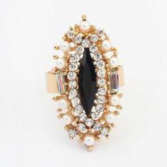 #Pierścionek  z kryształkami #Silvermet