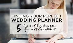 5 Kinds of Wedding Planners for Hire for Your Big Day - The Celebration Society