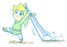 Minor complaint with Wind Waker, when it came out the advertising was all like: HEY! CHECK IT OUT, YOU CAN TAKE OTHER PEOPLE'S WEAPONS. And then all the weapons were like twice the size of link and slow and clumsy... and you're like, screw it, I'm gonna use my boomerang.