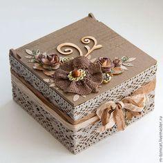 Caixas artesanais. Mestres Fair - feito à mão. Compre caixão Vintage. Handmade. Brown, box para pequenos itens, menina presente