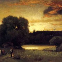 George Inness - Slow Fading Day