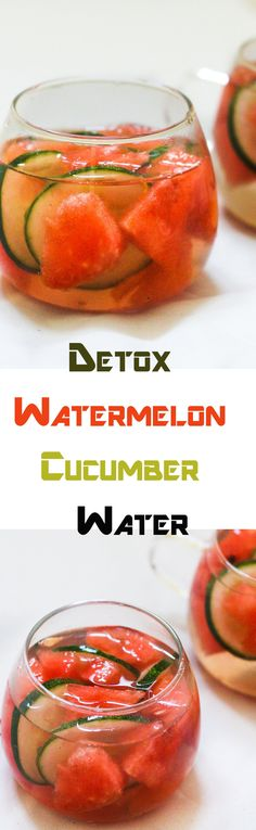 Water melon is great for washing out the toxins in the body and so is the cucumber. The detox water is a diet craze that have taken off in recent years. And rightly so!!
