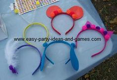 Littlest petshop animal headbands, cat ears, dog ears and other activities