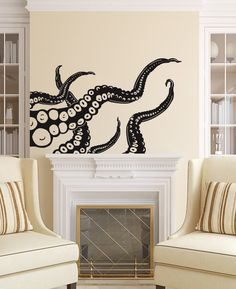 Octopus Wall Decal Tentacles Vinyl Sticker Decals by WallxDecal