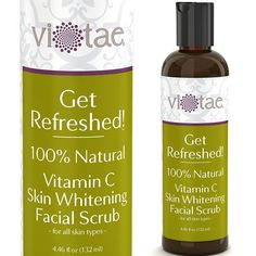 100% Natural Vitamin C Skin Whitening Facial Scrub, Gentle Exfoliating Smoothing - 'Get Refreshed!' by Vi-Taeå¨ - For all Skin Types - 4.46oz * This is an Amazon Affiliate link. Read more at the image link.