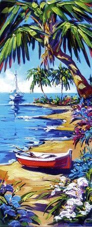 """DRIFT AWAY"", by Steve Barton Size: 14"" x 34"" Medium: Giclee on Canvas - Gallery Wrap Edition: 295#hawaii #art"