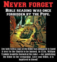 Why Was Bible Reading Forbidden By The Pope? - Topics - The World News Media Bible Teachings, Bible Scriptures, Catholic Bible, Babylon The Great, Bible College, Bible Knowledge, Black History Facts, Bible Truth, Truth Quotes