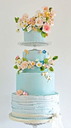 Bohemian Romance Wedding Cake